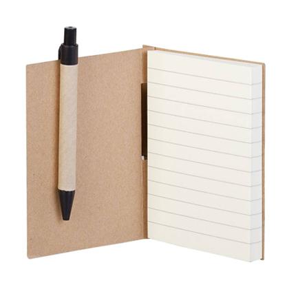 1400052,Мини-блокнот Eco Light c ручкой,Мини-блокнот Eco Light c ручкой с черными элементами. 80 тонированных листов в линейку. В комплекте шариковая ручка, стержень с синими чернилами.