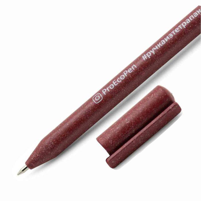 2380015,Ручка шариковая ECO, цвет красный,Ручка шариковая изготовлена из экологического материала. Стержни x10.. Персонализация: Тампопечать  на корпусе  (60 х 5 мм), на колпачке  (15 х 5 мм) Шелкография на корпусе (65 х 28 мм)