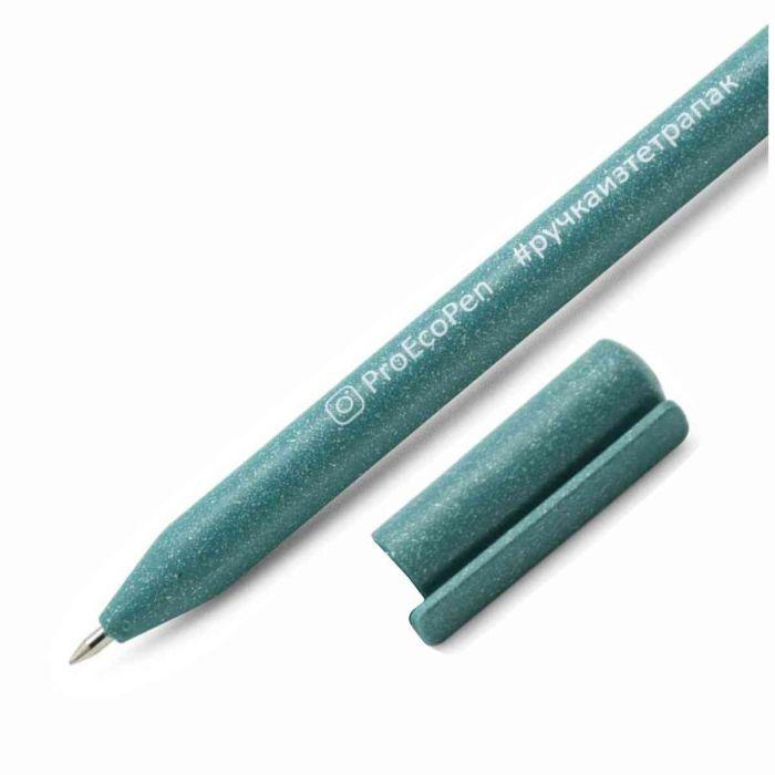2380017,Ручка шариковая ECO, цвет морская волна,Ручка шариковая изготовлена из экологического материала. Стержни x10.. Персонализация: Тампопечать  на корпусе  (60 х 5 мм), на колпачке  (15 х 5 мм) Шелкография на корпусе (65 х 28 мм)