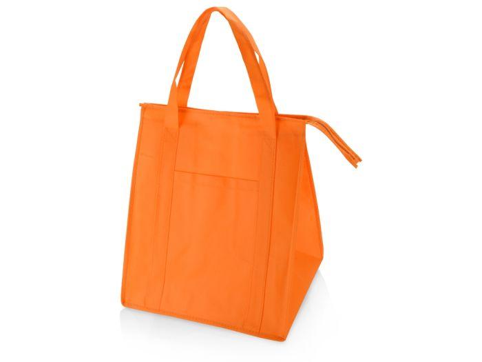 Сумка для покупок на молнии, цвет оранжевый