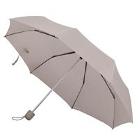 """Зонт складной """"Foldi"""", механический, цвет пластиковой ручки и купола серый"""