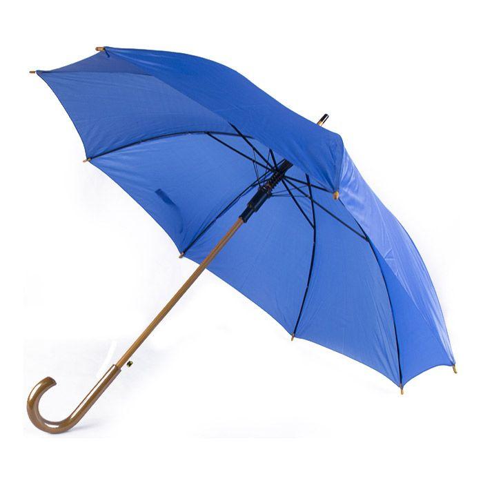 04371911751c Зонт-трость с деревянной изогнутой ручкой