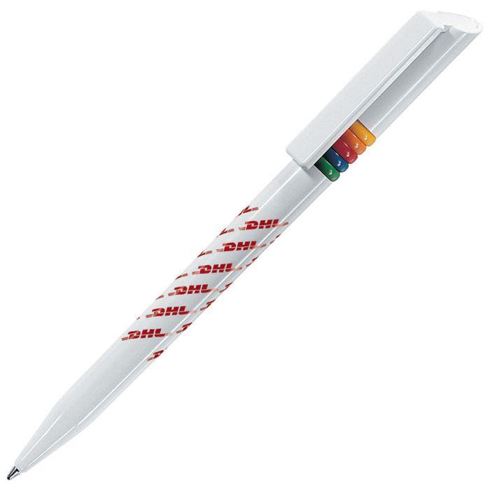 Белая ручка шариковая
